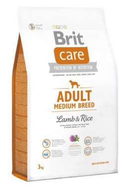 Brit Care New Adult Medium Breed Lamb & Rice 3kg