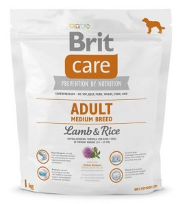 Brit Care New Adult Medium Breed Lamb & Rice 1kg