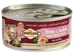 Carnilove Cat Salmon & Turkey for Kittens - łosoś i indyk puszka 100g