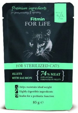 Fitmin Cat For Life Adult Sterilised Salmon saszetka 85g