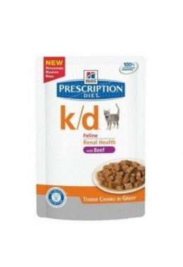 Hill's Prescription Diet k/d Feline Wołowina saszetka 85g